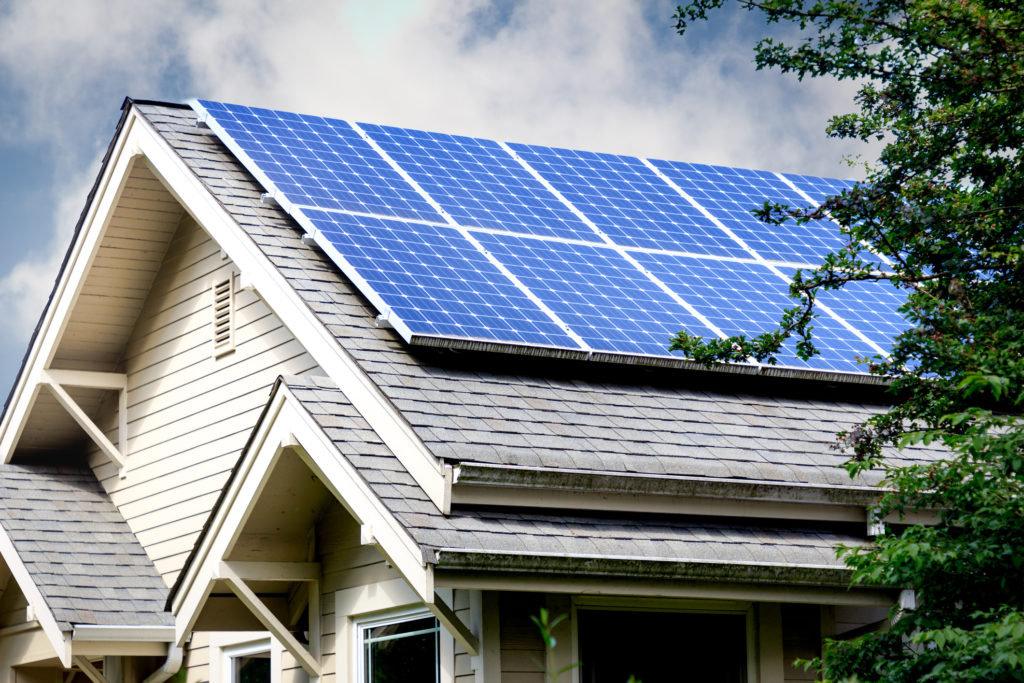 Solar power panels for the roof